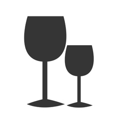 black glasses of wine graphic vector image vector image