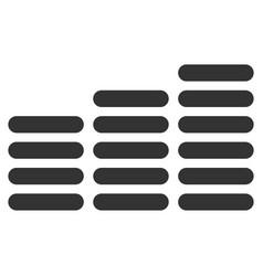 Coin columns flat icon vector
