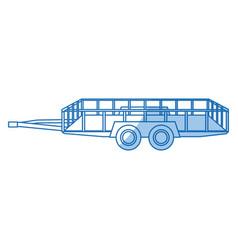 dump trailer cargo transport shipping image vector image