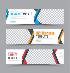 set of horizontal web banners in a place for a vector image vector image