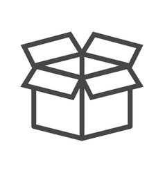 box thin line icon vector image