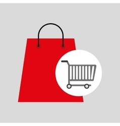 buying cart bag present design vector image
