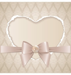 card with paper heart vector image vector image