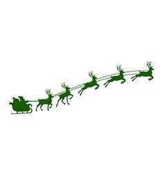 christmas reindeer harness vector image vector image