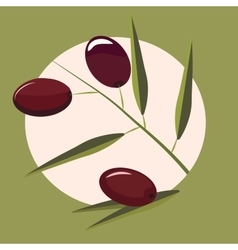 High quality original trendy olive branch vector image vector image