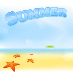 summer sea sign vector image vector image