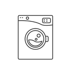 Washing machine line icon sign vector image vector image