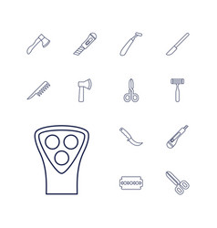 13 cut icons vector