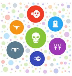 7 death icons vector