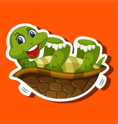 a simple turtle character vector image