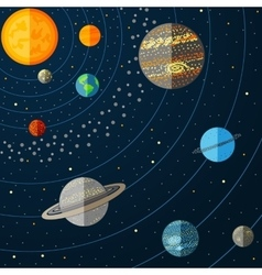 A solar system with planets vector