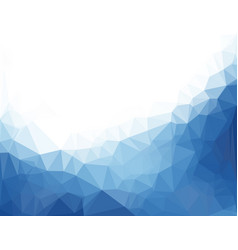 Abstract blue background with triangles vector