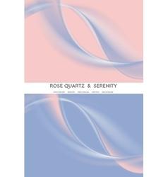 Abstract soft rose quartz and serenity wavy vector