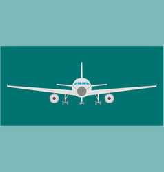 airplan flat icon sign and symbol vector image