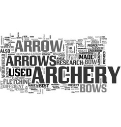 Archery research text word cloud concept vector