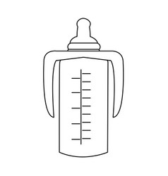 baby bottle plastic nutrition care image vector image