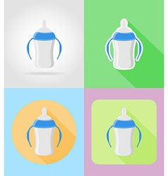 Baby flat icons 08 vector