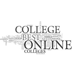 Best online college text background word cloud vector