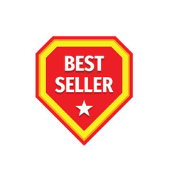 best seller badge logo design vector image