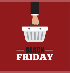 black friday concept with sale icons design vector image