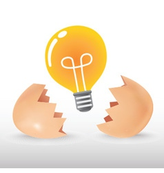 Bulb Egg vector image