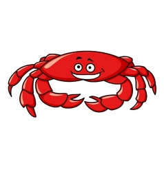 Colorful red cartoon crab vector