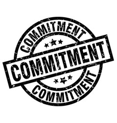 Commitment round grunge black stamp vector