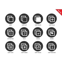 Copy icons on white background vector