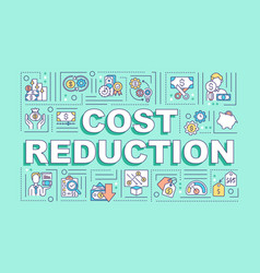 Cost reduction word concepts banner vector