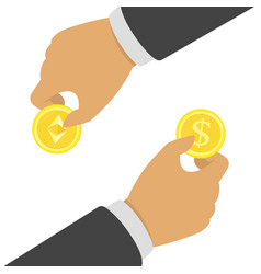 cryptocurrency exchange concept vector image