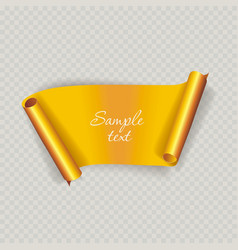 Cut banner with place for your text vector