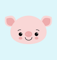 cute pink pig happy new year chinese symbol of vector image