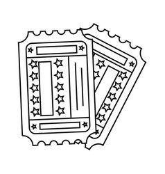 double tickets entrances vector image
