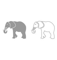 elephant it is black icon vector image