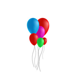 festive rubber ball vector image