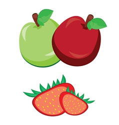 fruit apple with strawberry vector image