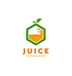 Fruit juice logo fresh drink logo vector