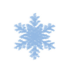 grainy grunge snowflake vector image