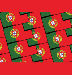grunge portugal flag or banner vector image