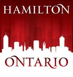 Hamilton Ontario Canada city skyline silhouette vector image