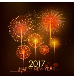 Happy New Year 2017 celebration abstract Starburst vector image