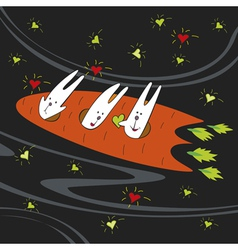hares astronauts vector image