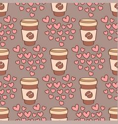 heart sharp seamless pattern background vector image