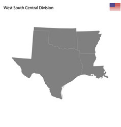 high quality map west south central division vector image