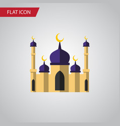 isolated building flat icon mosque element vector image