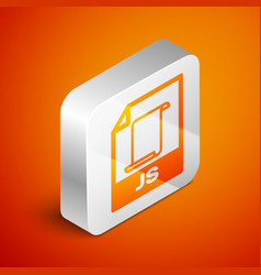 Isometric js file document icon download js vector
