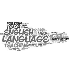Learn to teach english as a foreign language text vector