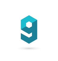 Letter g number 9 technology logo icon design vector