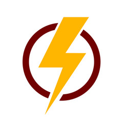 lightning bolt icon stock vector image