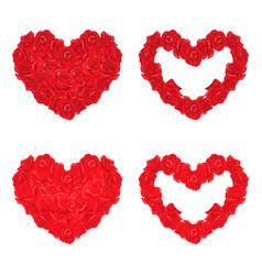 love rose heart rose love flower shape heart vector image